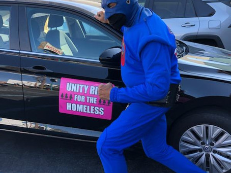 DangerMan teaming up with Unity Ride 4 Homeless