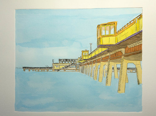 DEAL PIER   DRYPOINT LIMITED EDITION 1/20