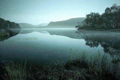 MISTY DAWN, DERWENT WATER, THE LAKES