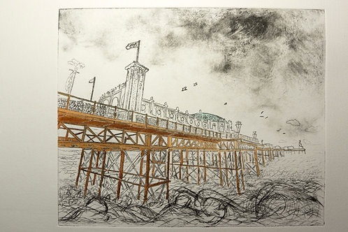 BRIGHTON STORMS DRYPOINT LIMITED EDITION 1/20