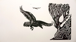 """RETURNING"" LINO CUT LIMITED EDITION"