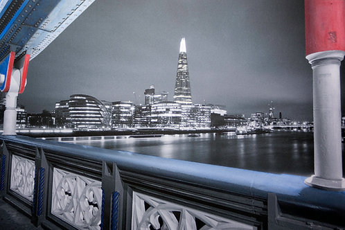 TOWER BRIDGE, SHARD VIEW, LONDON