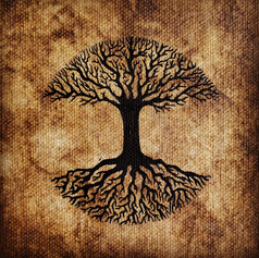 Woven In Brown Tree