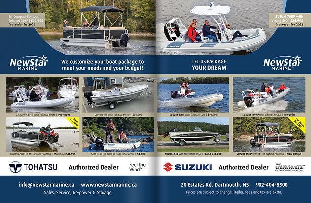 atlantic Boating Centre-fold Ad 2021 - NewStar Marine