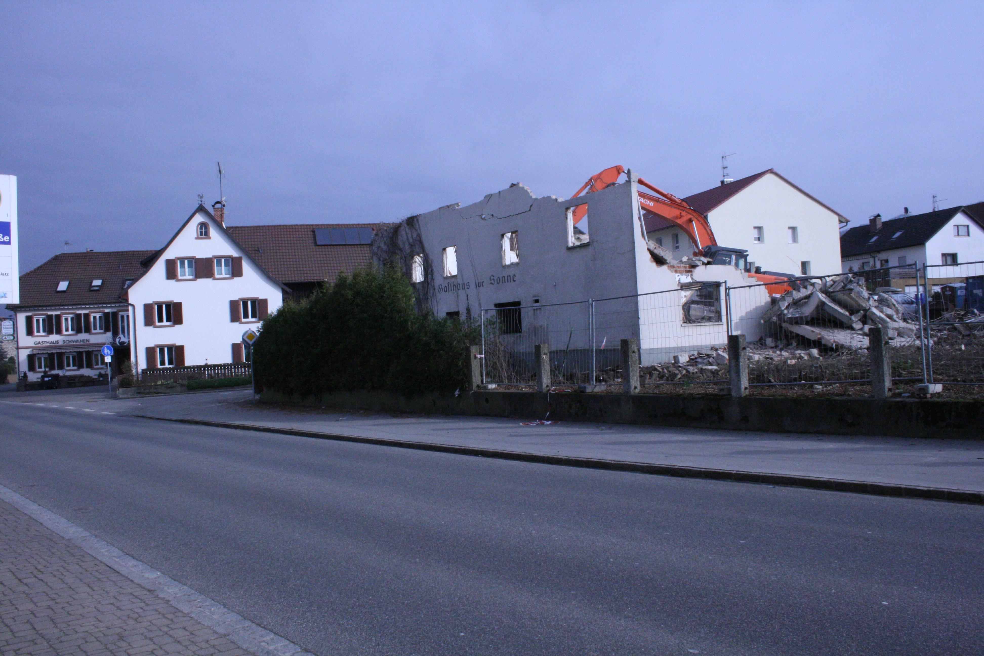 Abbruch Gasthaus Sonne Binzen