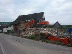 Abbrucharbeiten in Binzen