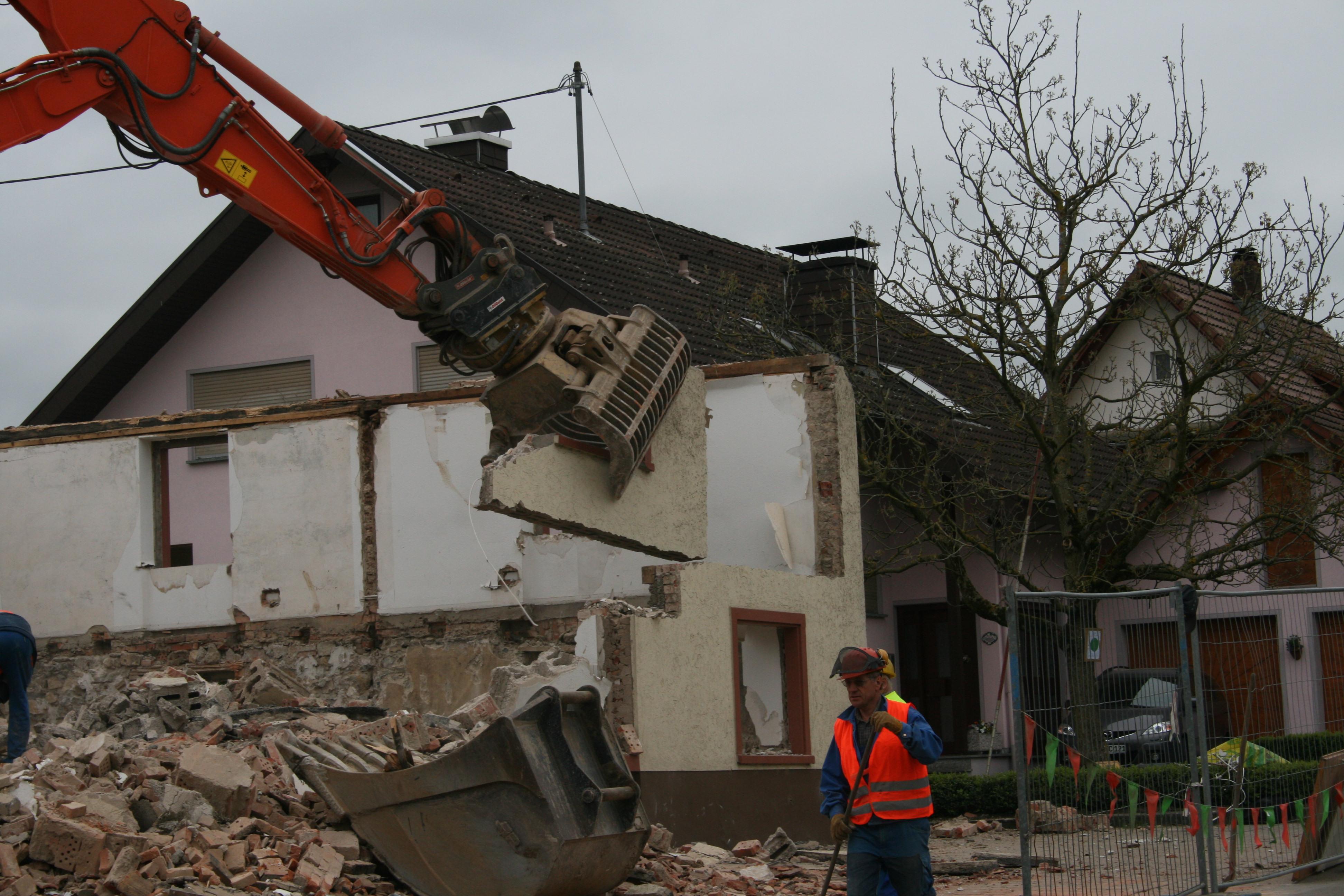 Abbruch Bauernhaus in Dogern