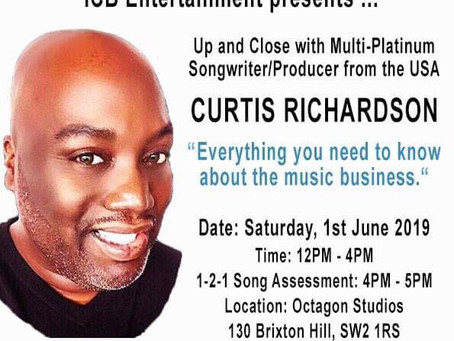 "ICB Entertainment Present... Masterclass - ""Everything you need to know about the music business"""
