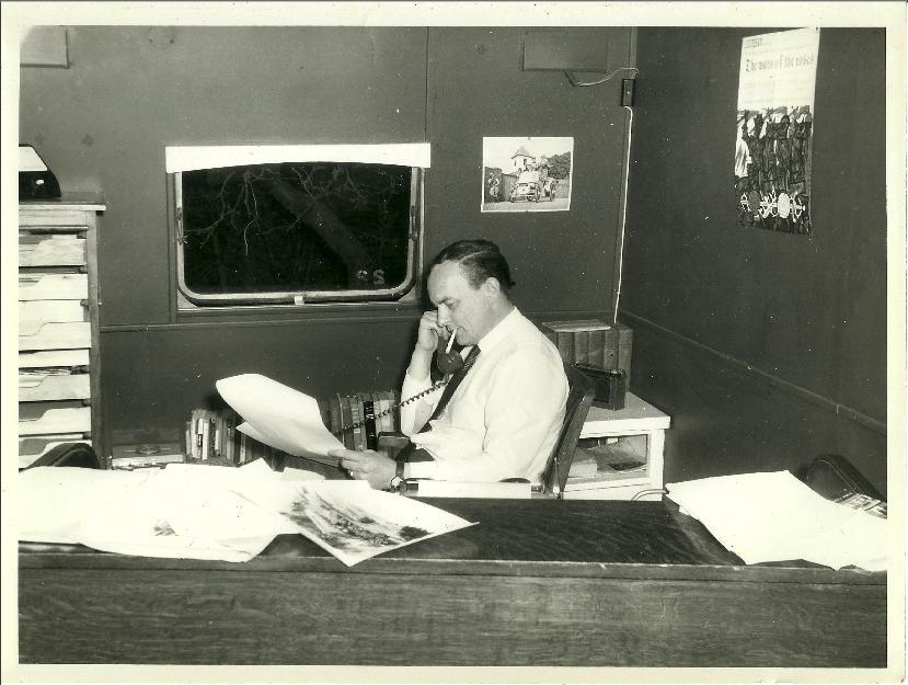 Grandpa in his office