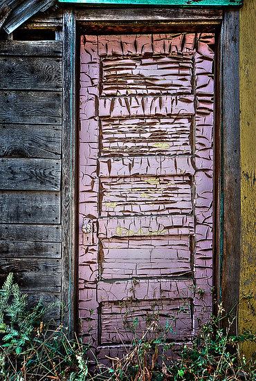Paint chipped door