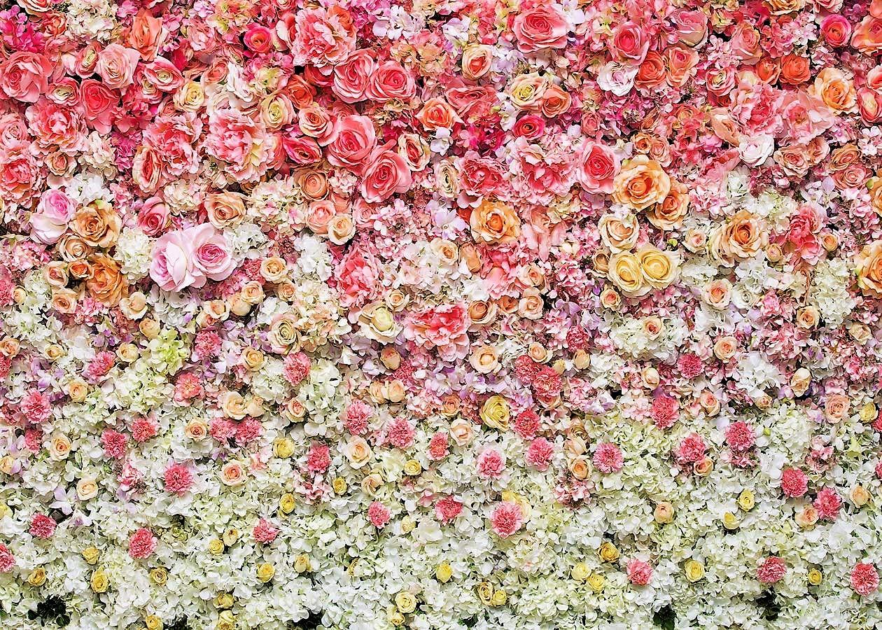 rózsaszín-fehér virágos