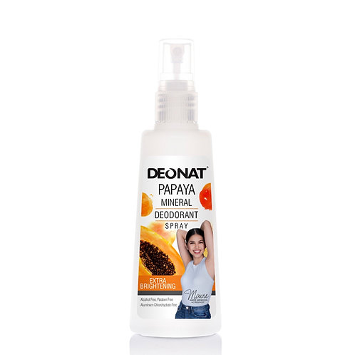 DEO NAT Papaya Mineral Deodorant Spray 100ml