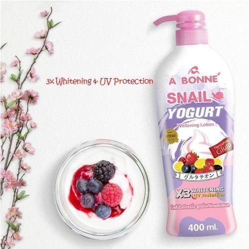 A Bonne' Snail Yogurt Whitening Lotion (400ml)