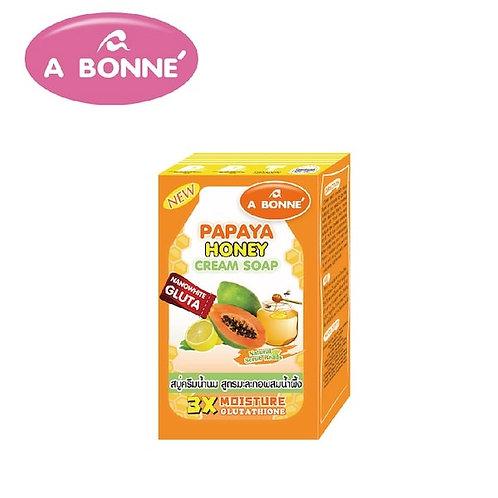 A bonne Papaya Honey cream soap