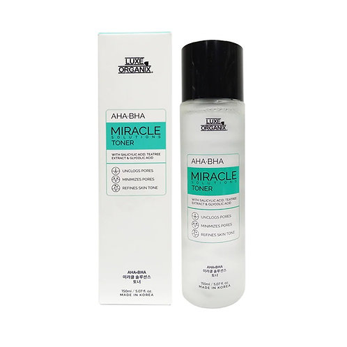 LUXE ORGANIX Miracle Toner AHA/BHA Pore Clarifying Treatment 150ml