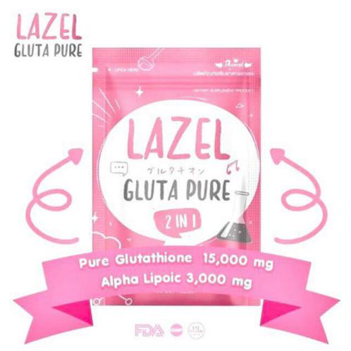 Lazel Gluta Pure 2 in 1 Pure Glutathione 15,000mg 30 softgels
