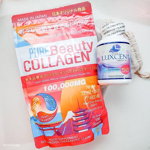 Pure Beauty Collagen + Luxcent Luminous Caps Combo