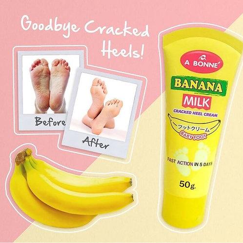 A Bonne Banana Milk Cracked Heel Cream Baby Foot