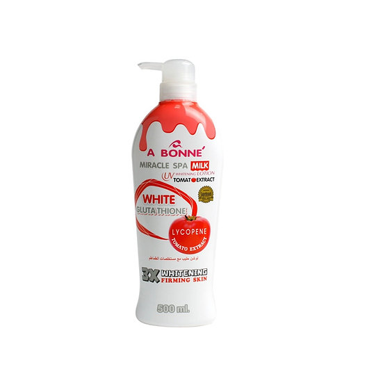 A Bonne Miracle Spa Milk UV Whitening Body lotion Plus Tomato Extract