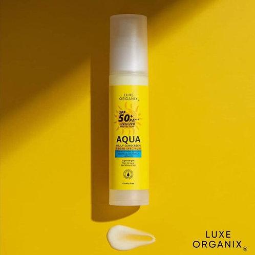 Luxe Organix SPF 50+ PA*** UVA/UVB Protection Aqua Daily Sunscreen 50ml