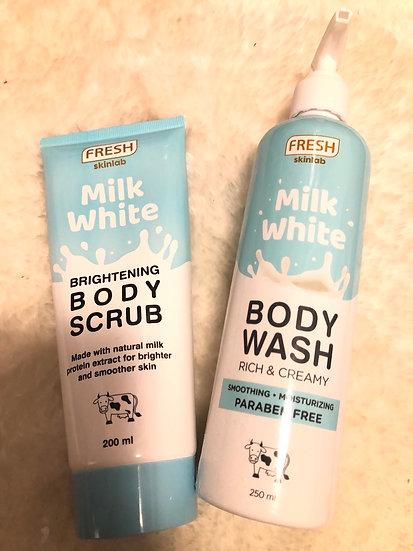 Fresh Skinlab Milk White Body Wash + Scrub