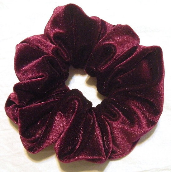 Velvet Burgundy Medium Scrunchie