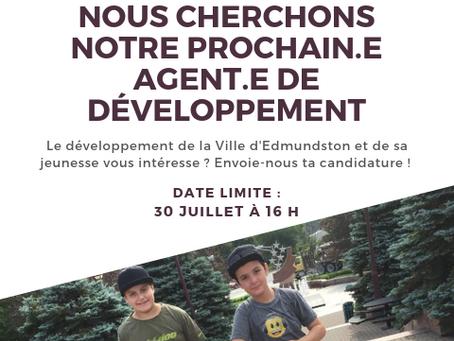 Offre d'emploi | Agent.e de développement