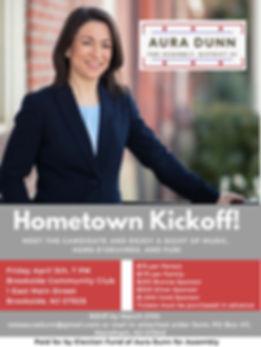 Aura Dunn Hometown Kickoff-3 with flyer