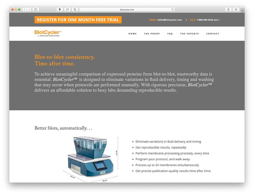 BlotCycler web page, www. BlotCycler.com