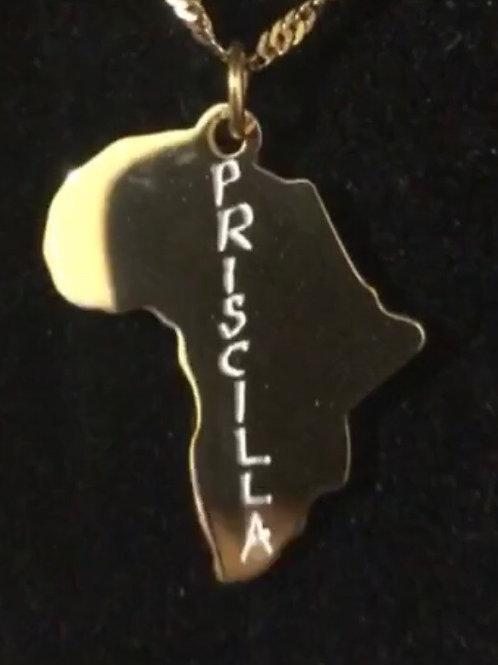 I Am Africa Custom name pendant