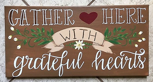 Grateful Hearts Canvas