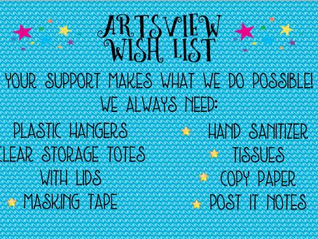 ArtsView's Summer Wish List