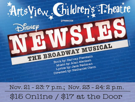 Newsies is coming to ArtsView!