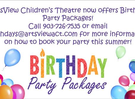 Birthday Parties @ ArtsView