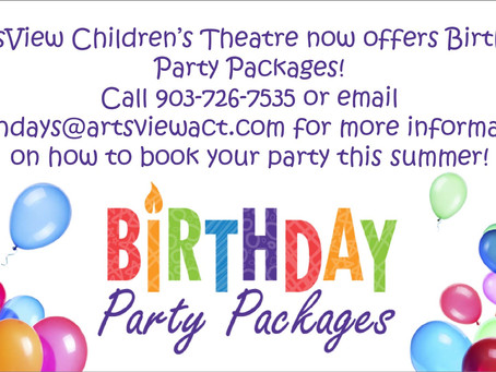 Birthday Parties @ ArtsView