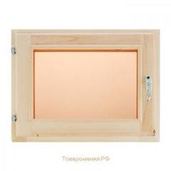 Окно банное с двойным стеклом 0,3*0,4