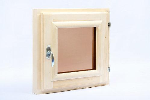 Окно банное с двойным стеклом 0,4*0,4