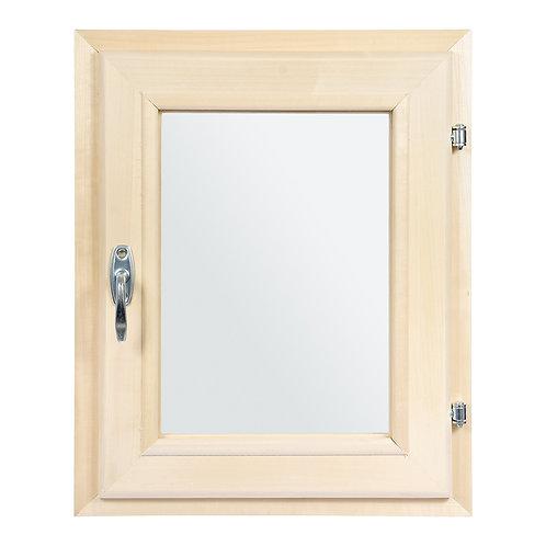 Окно банное с двойным стеклом 0,4*0,3