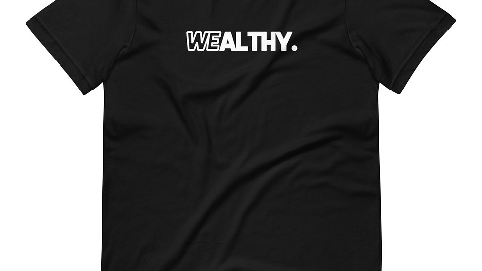 Wealthy Black Black T-Shirt