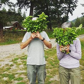 A couple of modest farm helpers hiding b