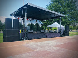 24 x 16 shade roof stage