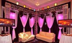 VIP BOOTH WITH UP LIGHTING