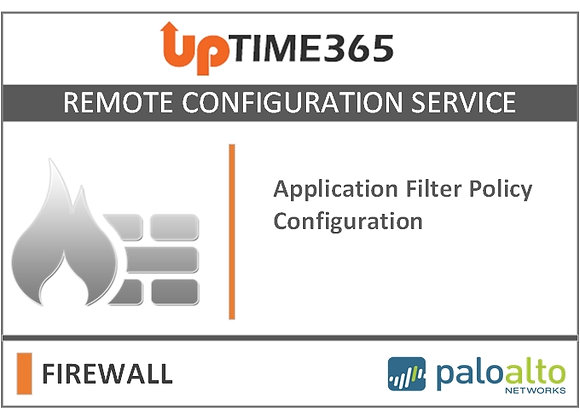 Application Filter Policy Configuration in Palo Alto Firewall