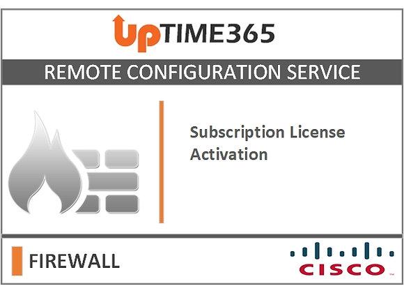 Cisco Firewall Subscription License Activation