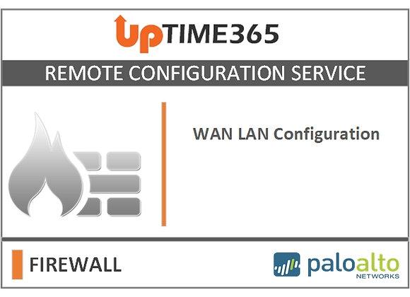 WAN LAN Configuration For Palo Alto Firewall