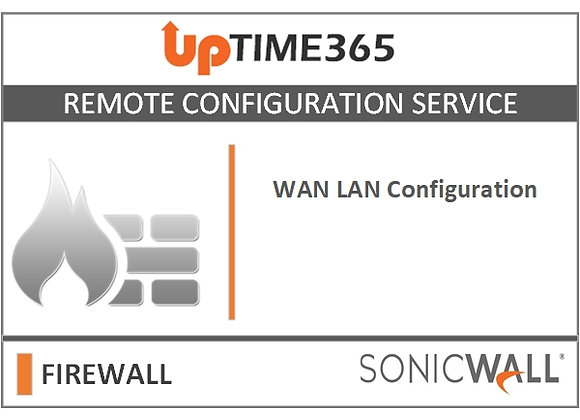 WAN LAN Configuration For SonicWall Firewall