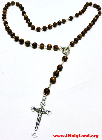 Olive Wood Catholic Rosary