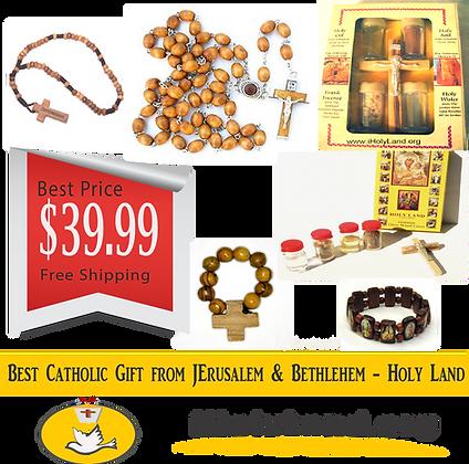 Best Catholic Olive wood Rosary Baptism Gift from Jerusalem & Bethlehem HolyLand