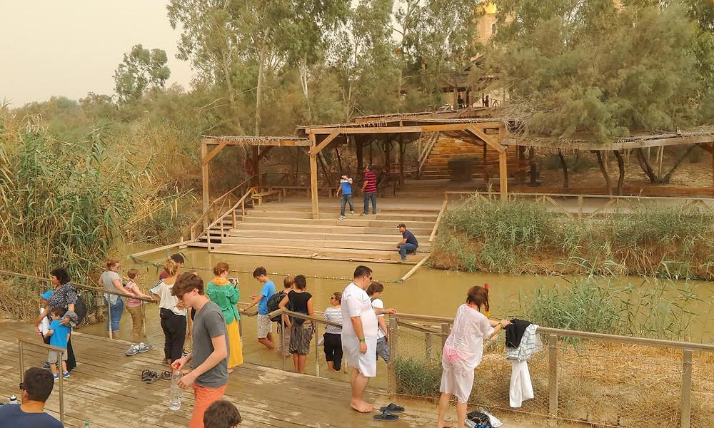 Baptism in the Jordan River Holy Land