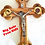 Thumbnail: Olive wood Jerusalem Cross Crucifix 14 Station- 9""